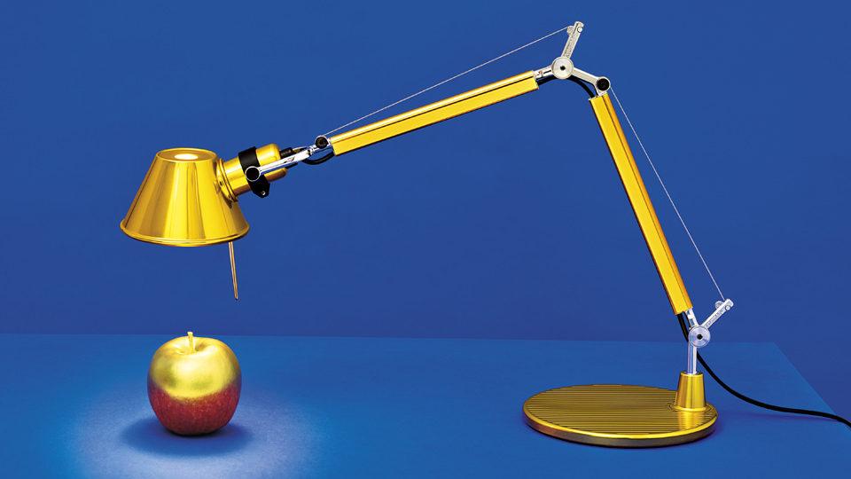 Artemide Tolomeo bureaulamp goud