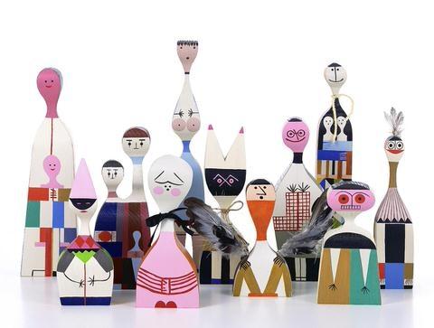 Alexander Girard Wooden Dolls als decoratie