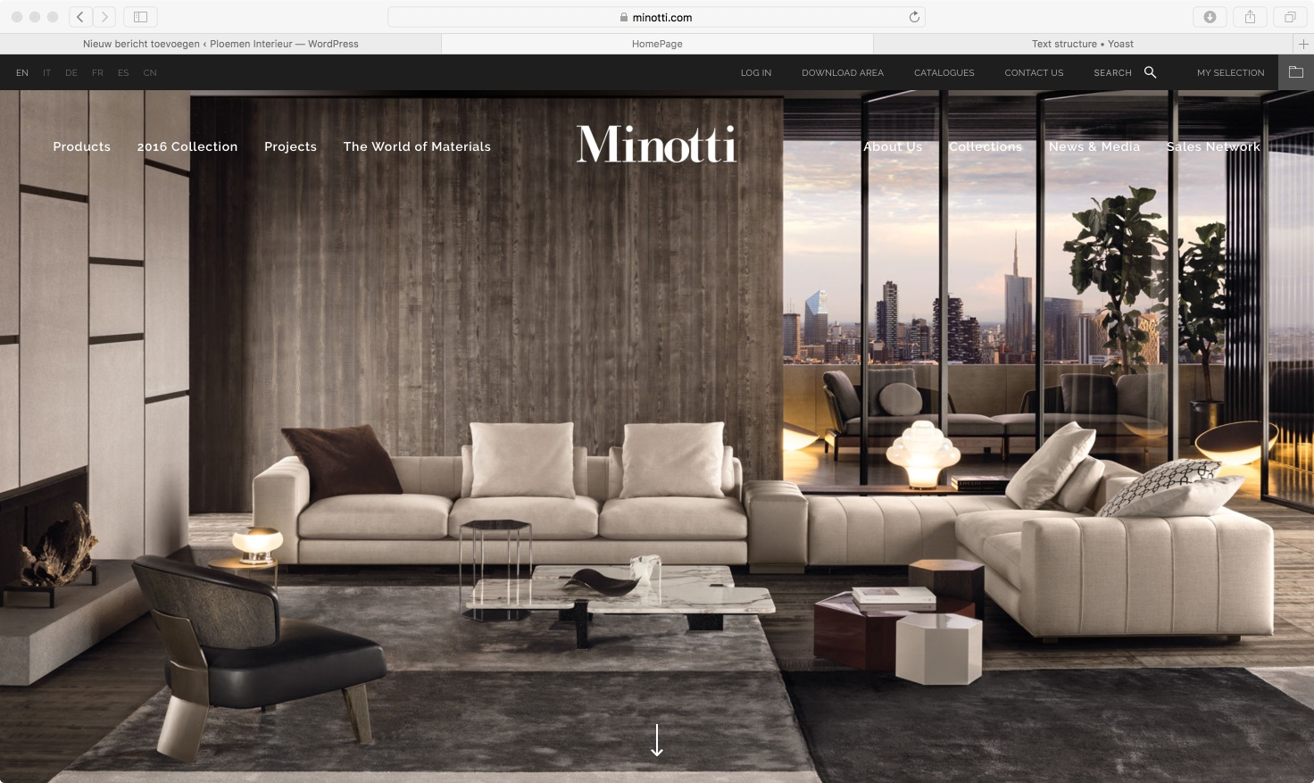 minotti website