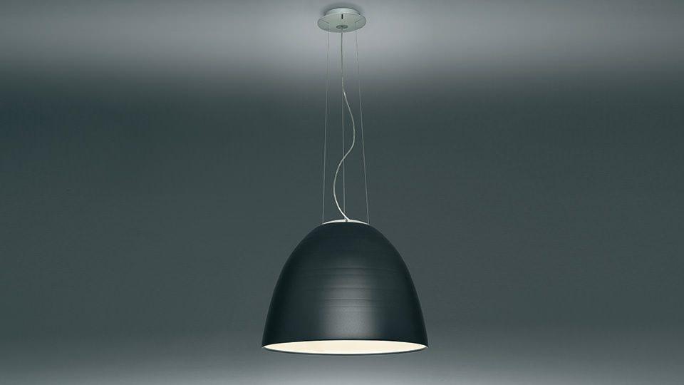 Hanglamp Artemide Nur in antraciet aluminium
