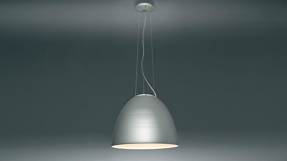 Hanglamp Artemide Nur in aluminium