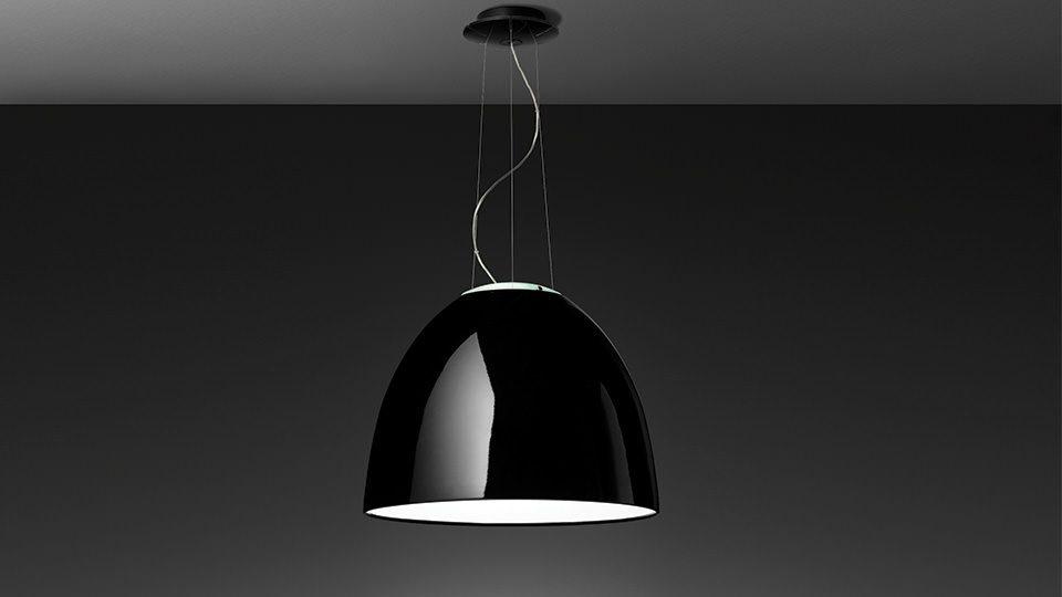 Hanglamp Artemide Nur in hoogglans zwart