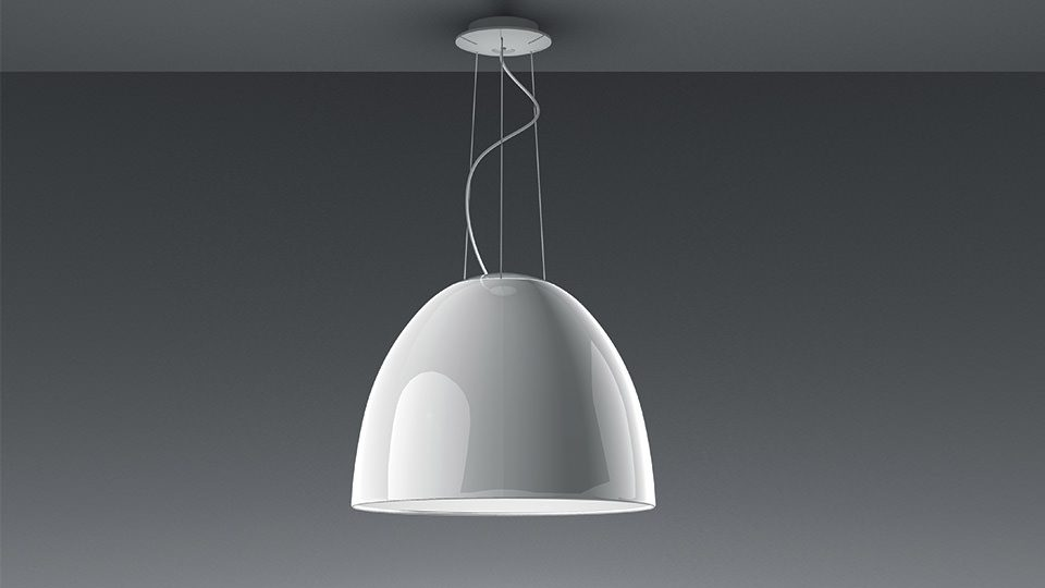 Hanglamp Artemide Nur in hoogglans wit