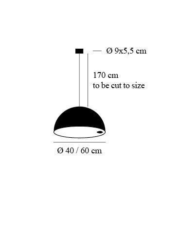 Catellani & Smith Stchu Moon hanglamp afmetingen