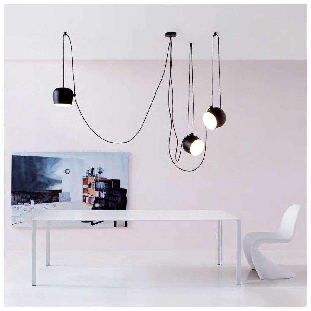 Flos Aim hanglamp zwart