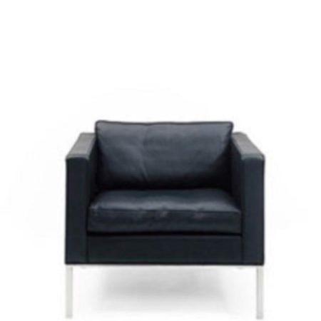 Artifort 905 zwart leer design fauteuil