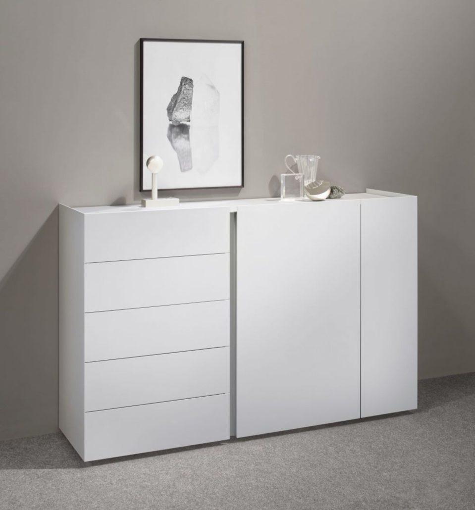Interlübke dressoir Jorel hoogglans wit