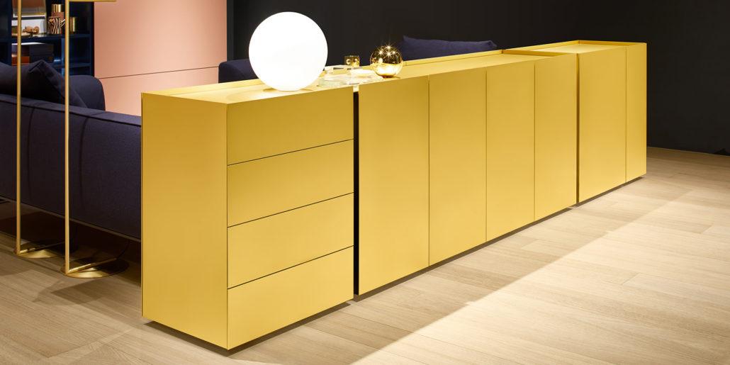 Interlübke dressoir Jorel goudkleurig