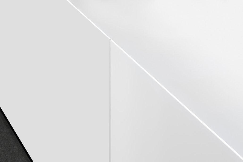 Interlübke dressoir Jorel hoogglans wit detail