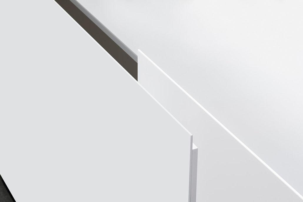 Interlübke dressoir Jorel hoogglans wit zweefdeur