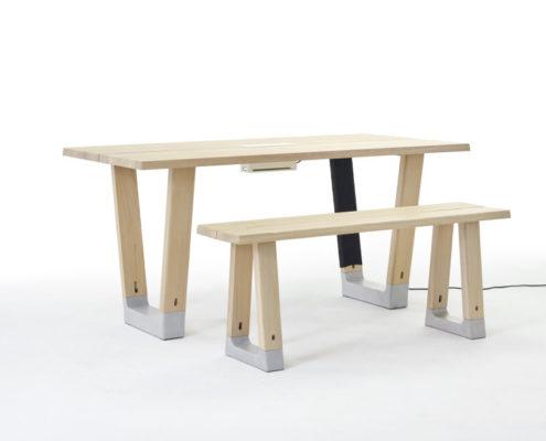 Arco Base tafel en Base Bench