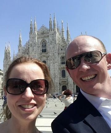 Bart en Daniëlle in Milaan